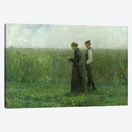 Sunday Afternoon, 1893  Canvas Print #BMN1991} by Leopold Karl Walter von Kalckreuth Canvas Art