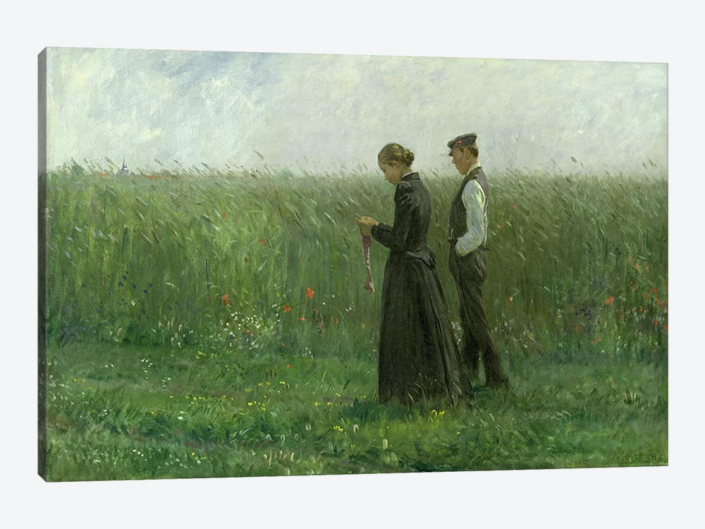 Sunday Afternoon, 1893 by Leopold Karl Walter von Kalckreuth 1-piece Canvas Art Print