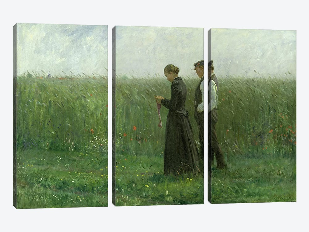 Sunday Afternoon, 1893 by Leopold Karl Walter von Kalckreuth 3-piece Canvas Art Print
