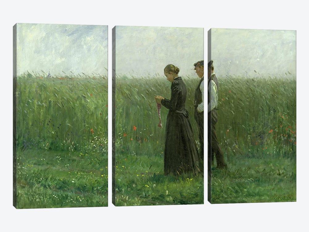 Sunday Afternoon, 1893  by Leopold Karl Walter von Kalckreuth 3-piece Canvas Art Print