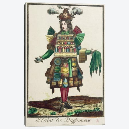 The Perfumer's Costume  Canvas Print #BMN1994} by Nicolas Bonnart Canvas Art Print