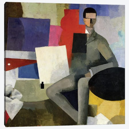 The Seated Man, or The Architect  Canvas Print #BMN1995} by Roger de la Fresnaye Art Print