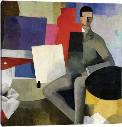 The Seated Man, or The Architect  Canvas Art Print
