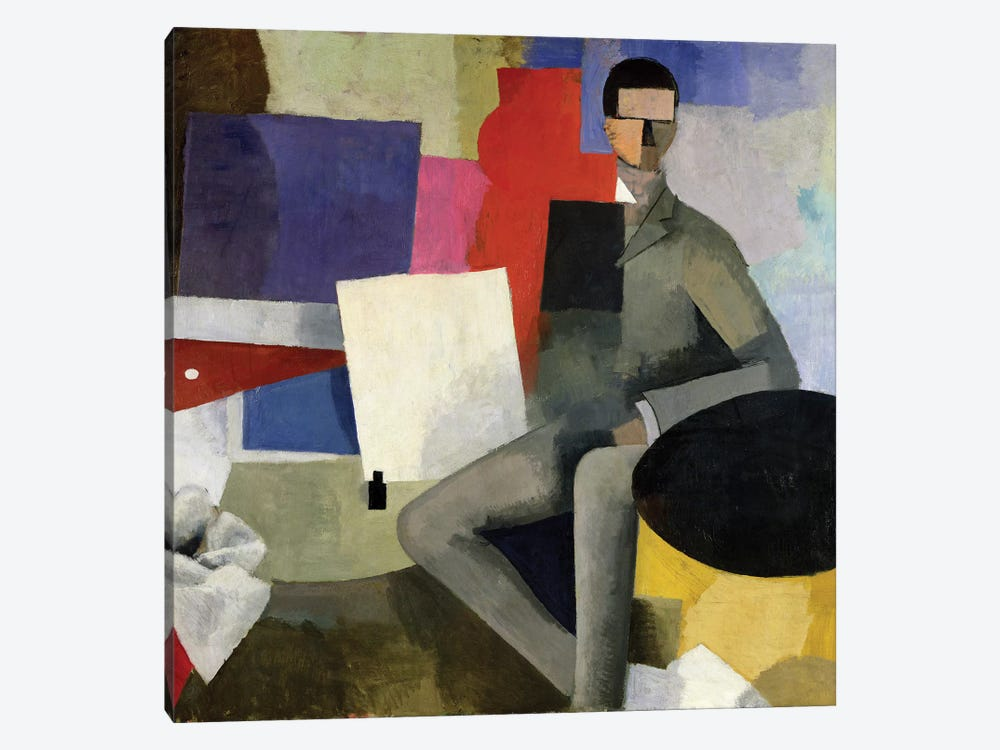 The Seated Man, or The Architect  by Roger de la Fresnaye 1-piece Canvas Print