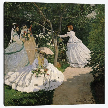 Women in the Garden, 1866  Canvas Print #BMN199} by Claude Monet Canvas Art