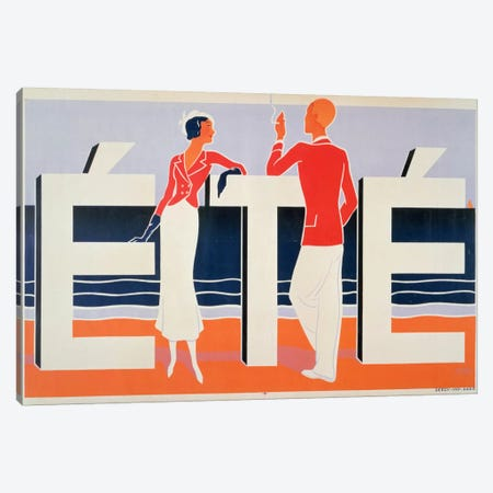 Ete, 1925 Canvas Print #BMN1} by M. E. Caddy Art Print