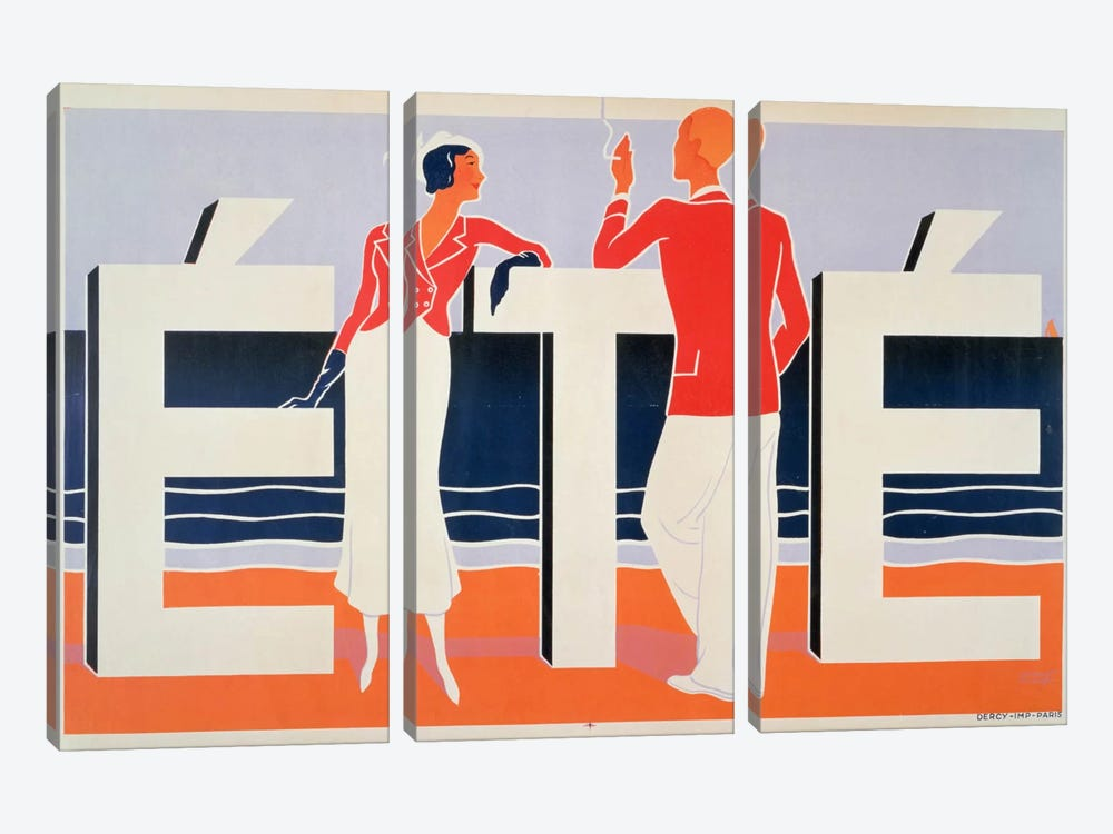 Ete, 1925 by M. E. Caddy 3-piece Canvas Print