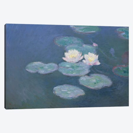 Waterlilies, Evening   Canvas Print #BMN2000} by Claude Monet Canvas Wall Art