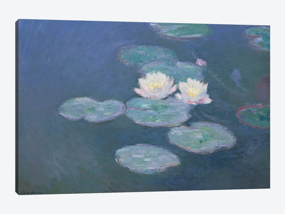 Waterlilies, Evening   by Claude Monet 1-piece Canvas Print