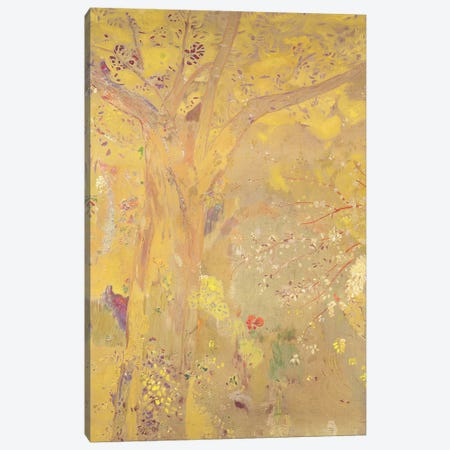 Yellow Tree  Canvas Print #BMN2003} by Odilon Redon Canvas Wall Art