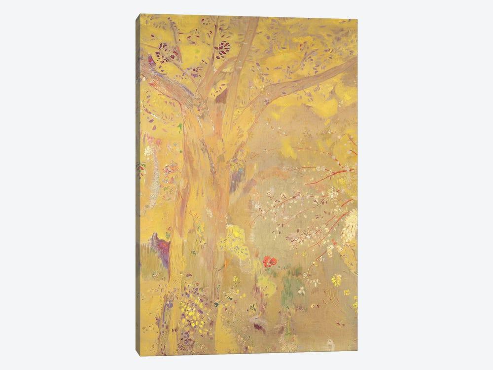 Yellow Tree  by Odilon Redon 1-piece Canvas Wall Art