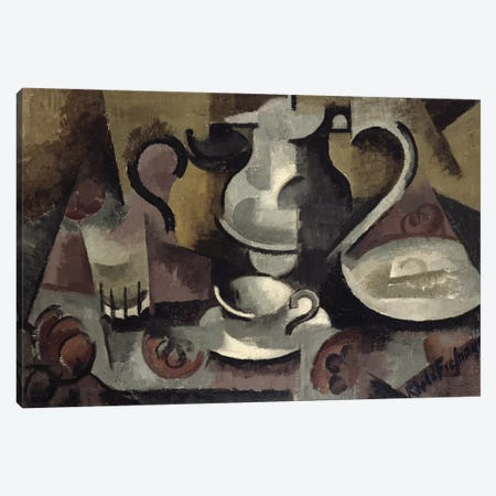 Still Life with Three Handles  Canvas Print #BMN2005} by Roger de la Fresnaye Canvas Art Print