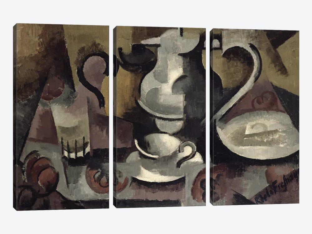 Still Life with Three Handles  by Roger de la Fresnaye 3-piece Canvas Artwork