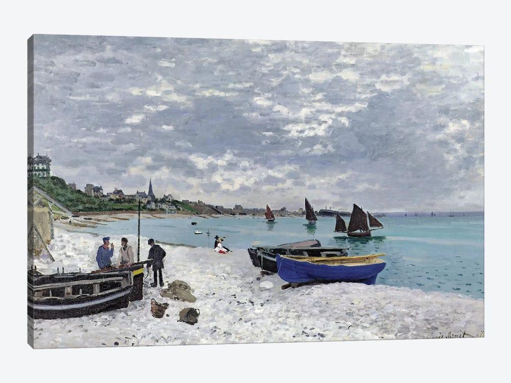The Beach at Sainte-Adresse, 1867  by Claude Monet 1-piece Canvas Art Print