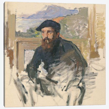 Self Portrait in his Atelier, c.1884  Canvas Print #BMN2007} by Claude Monet Canvas Art Print
