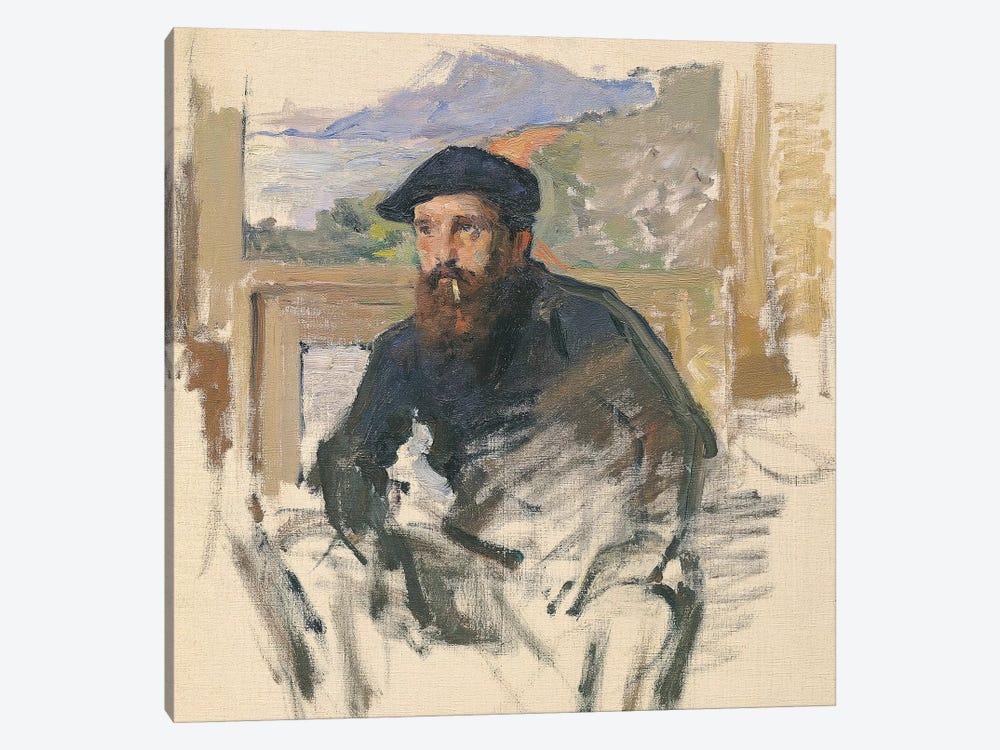 Self Portrait in his Atelier, c.1884  by Claude Monet 1-piece Canvas Art