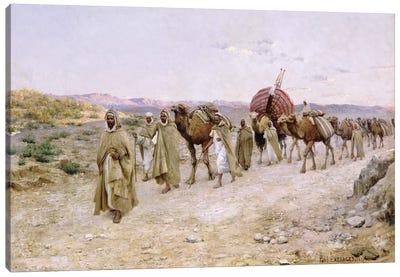 A Caravan near Biskra, 1892  Canvas Art Print