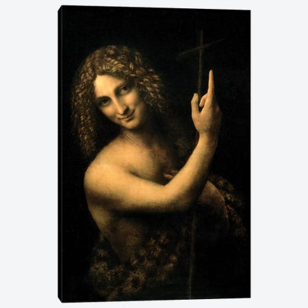 St. John the Baptist, 1513-16  Canvas Print #BMN200} by Leonardo da Vinci Canvas Artwork