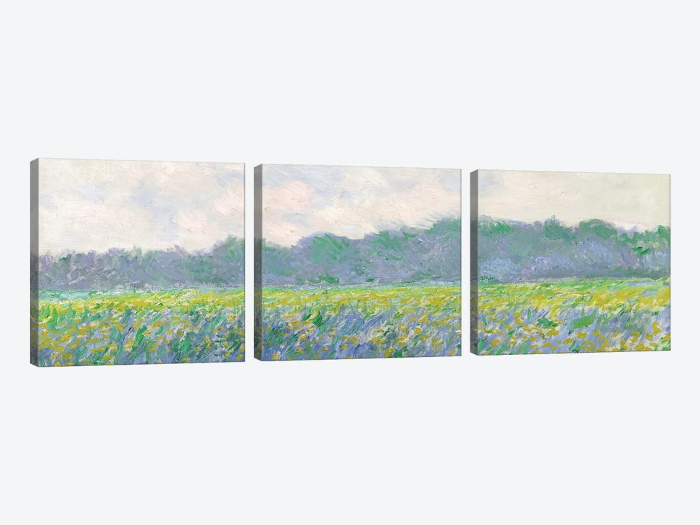 Field of Yellow Irises at Giverny, 1887  by Claude Monet 3-piece Art Print