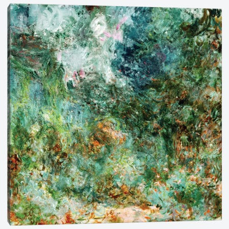 The House at Giverny Viewed from the Rose Garden, 1922-24  Canvas Print #BMN2013} by Claude Monet Canvas Art Print