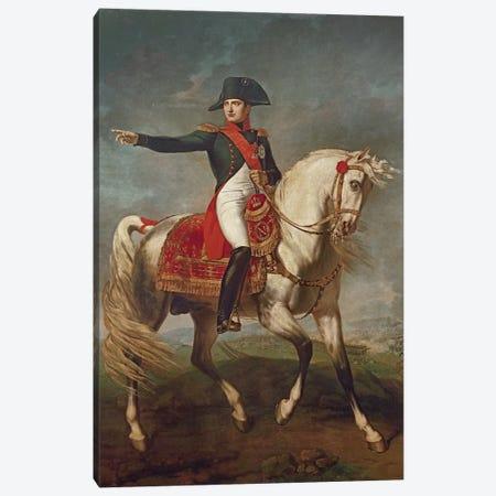 Equestrian Portrait of Napoleon I  Canvas Print #BMN2014} by Joseph Chabord Canvas Artwork