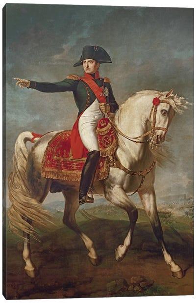 Equestrian Portrait of Napoleon I  Canvas Art Print