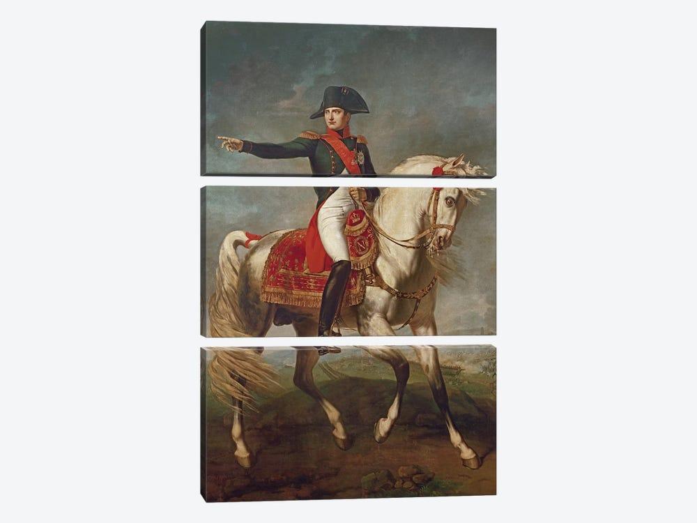 Equestrian Portrait of Napoleon I  by Joseph Chabord 3-piece Canvas Artwork