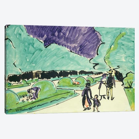 Entrance to a large garden in Dresden, 1905  Canvas Print #BMN2015} by Ernst Ludwig Kirchner Canvas Art