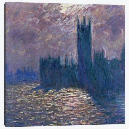 Parliament, Reflections on the Thames, 1905  Canvas Print #BMN2017} by Claude Monet Canvas Artwork