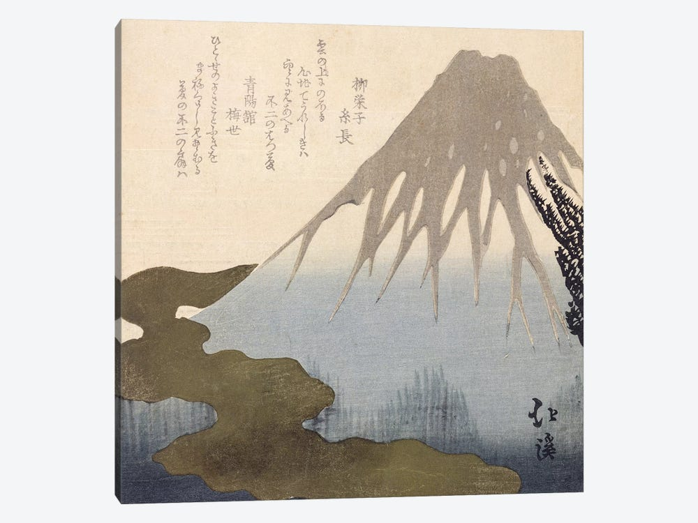 Mount Fuji Under the Snow  by Toyota Hokkei 1-piece Canvas Artwork