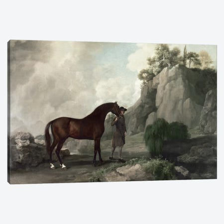 Cato' and Groom  Canvas Print #BMN201} by George Stubbs Canvas Wall Art