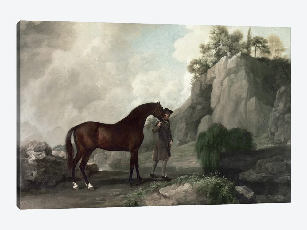 Cato' and Groom  by George Stubbs 1-piece Canvas Print