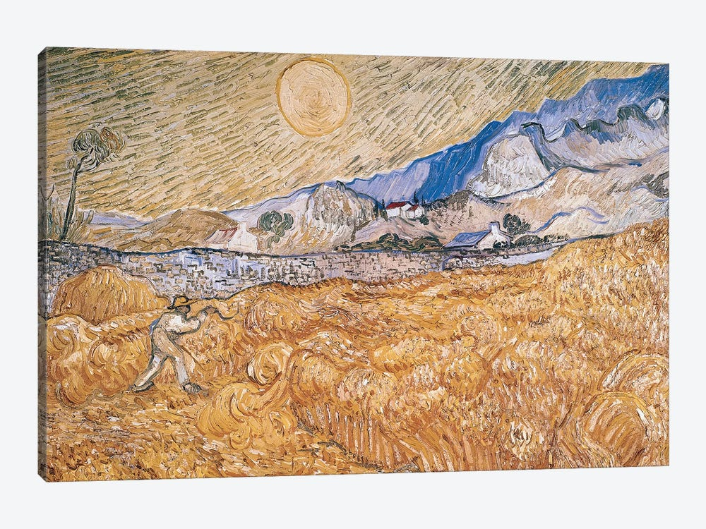 The Harvester  by Vincent van Gogh 1-piece Canvas Artwork