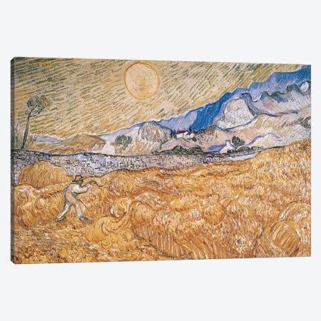 The Harvester  Canvas Print #BMN2021} by Vincent van Gogh Canvas Artwork