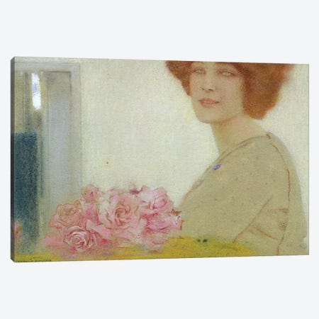 Roses, 1912  3-Piece Canvas #BMN2027} by Fernand Khnopff Canvas Print