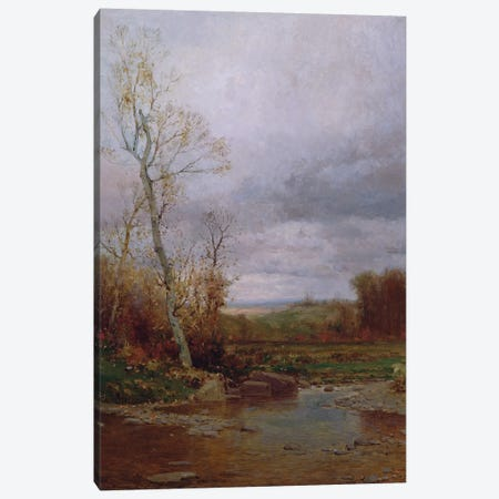 River Landscape, 1880  Canvas Print #BMN2028} by Jervis McEntee Canvas Artwork