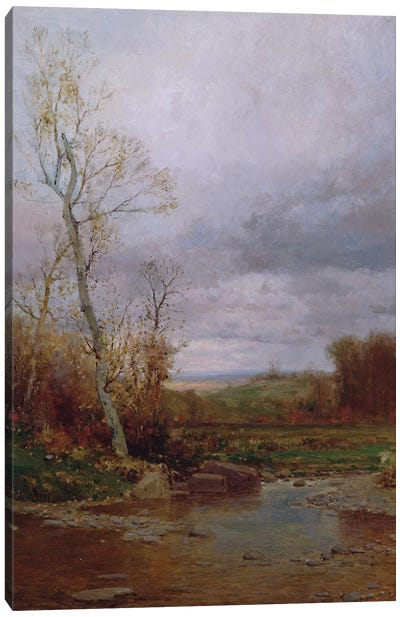 River Landscape, 1880  Canvas Art Print