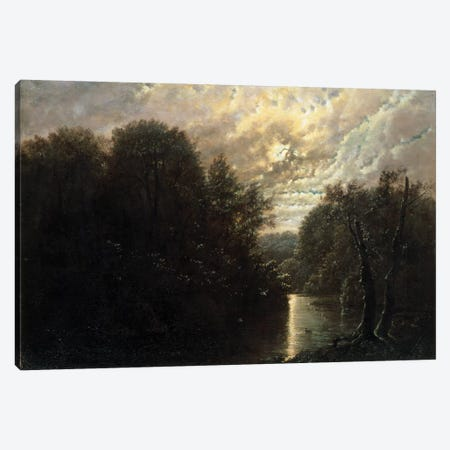 River Landscape in the Rosental near Leipzig  Canvas Print #BMN2029} by Karl Gustav Carus Canvas Wall Art