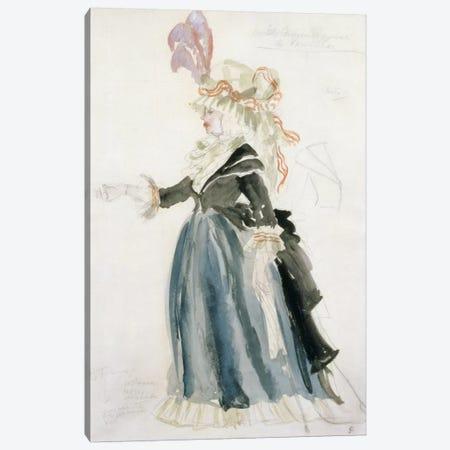 Costume design for 'Misa Sert' as 'Une Dame de la Cour' for 'La Fete Merveilleuse'at Versailles, 1923  Canvas Print #BMN2033} by Juan Gris Canvas Art Print