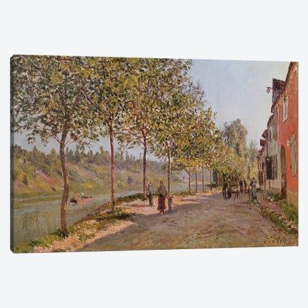 June Morning in Saint-Mammes, 1884  Canvas Print #BMN2035} by Alfred Sisley Canvas Art