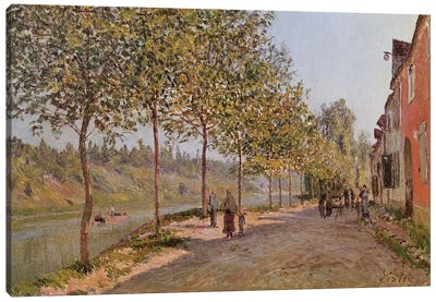 June Morning in Saint-Mammes, 1884  Canvas Art Print
