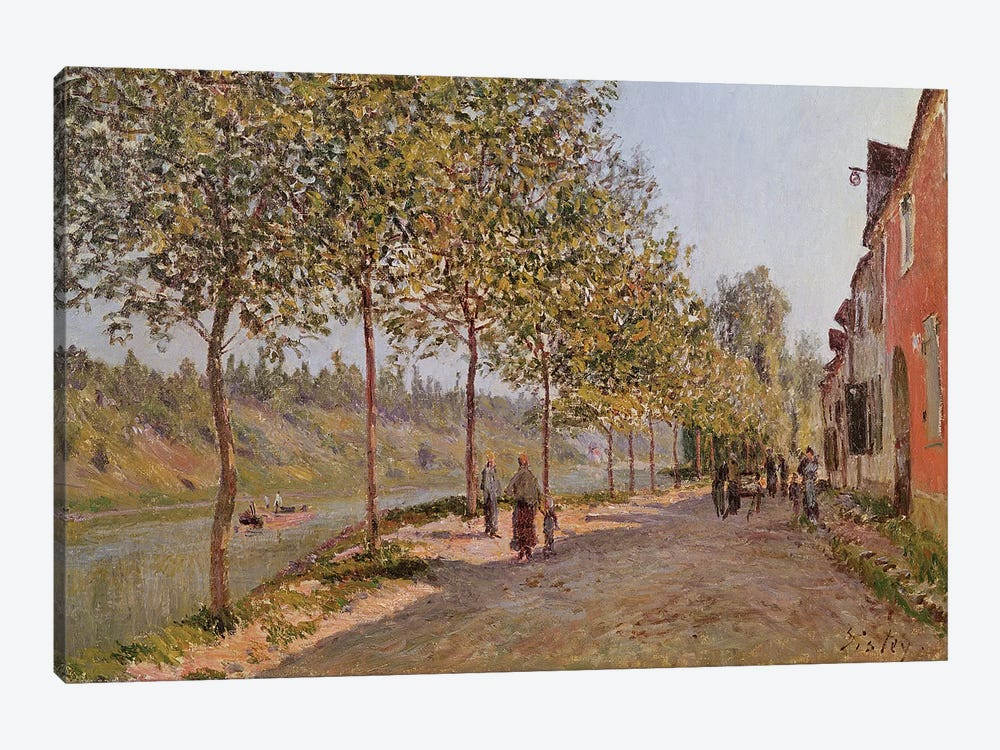 June Morning in Saint-Mammes, 1884  by Alfred Sisley 1-piece Canvas Print