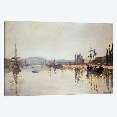 The Seine Below Rouen  Canvas Print #BMN2036} by Claude Monet Canvas Artwork