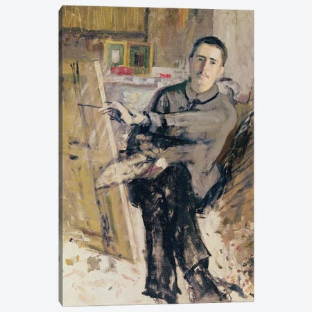 Self Portrait, c.1907-08  Canvas Print #BMN2038} by Roger de la Fresnaye Canvas Art Print