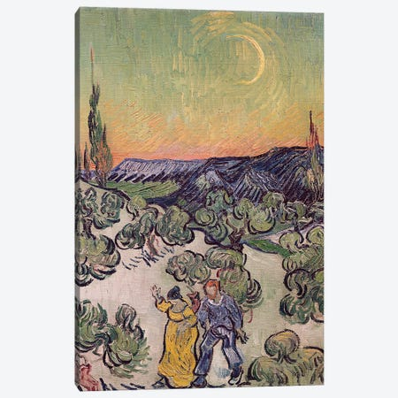 Moonlit Landscape, 1889  Canvas Print #BMN2039} by Vincent van Gogh Canvas Print