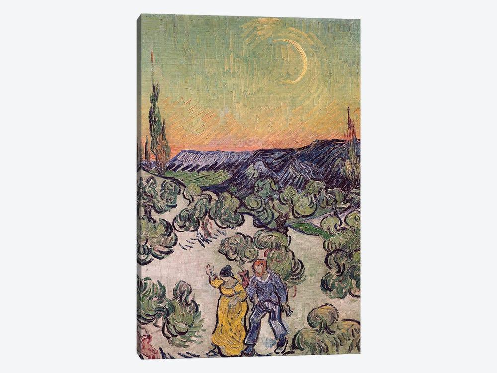 Moonlit Landscape, 1889  by Vincent van Gogh 1-piece Art Print
