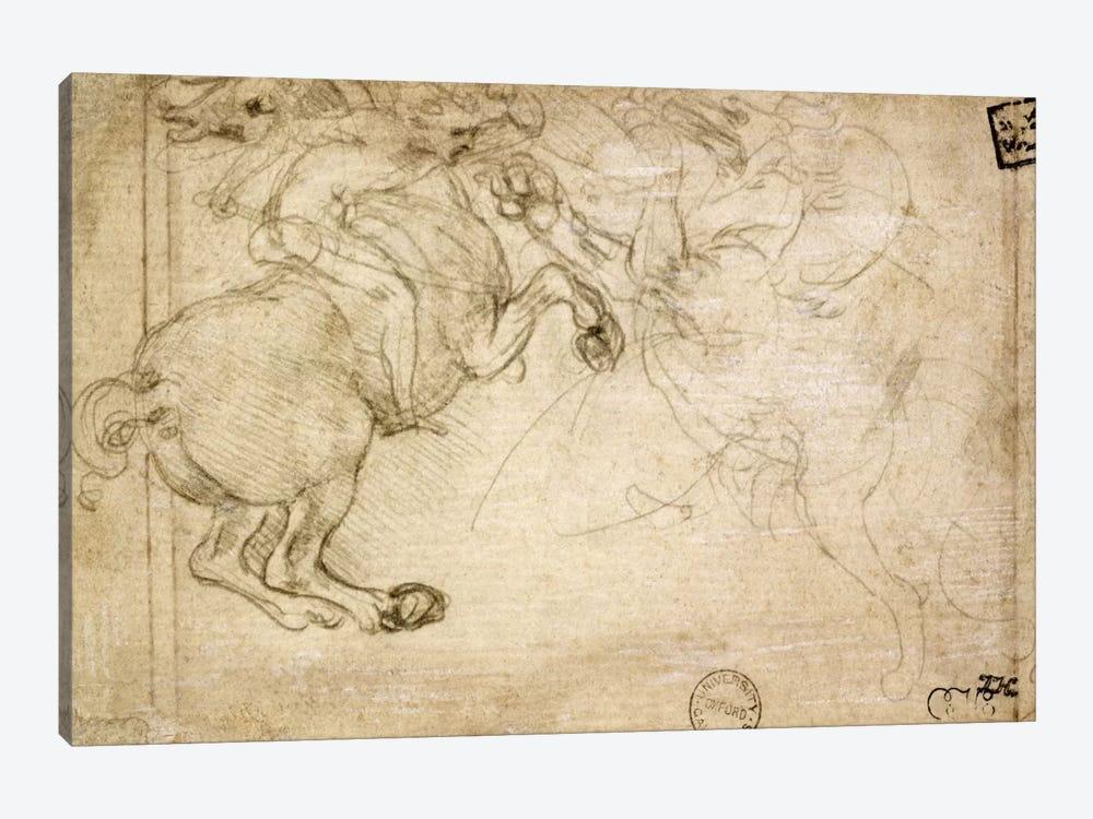 A Horseman in Combat with a Griffin, 16th century  by Leonardo da Vinci 1-piece Canvas Art Print