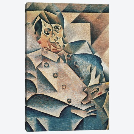 Portrait of Pablo Picasso, 1912  Canvas Print #BMN2043} by Juan Gris Canvas Art