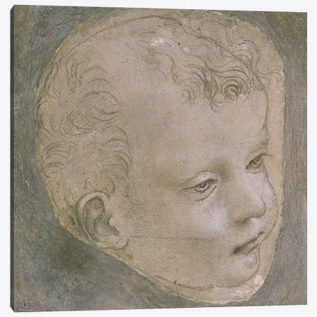 Head of a Child  Canvas Print #BMN2044} by Leonardo da Vinci Canvas Print