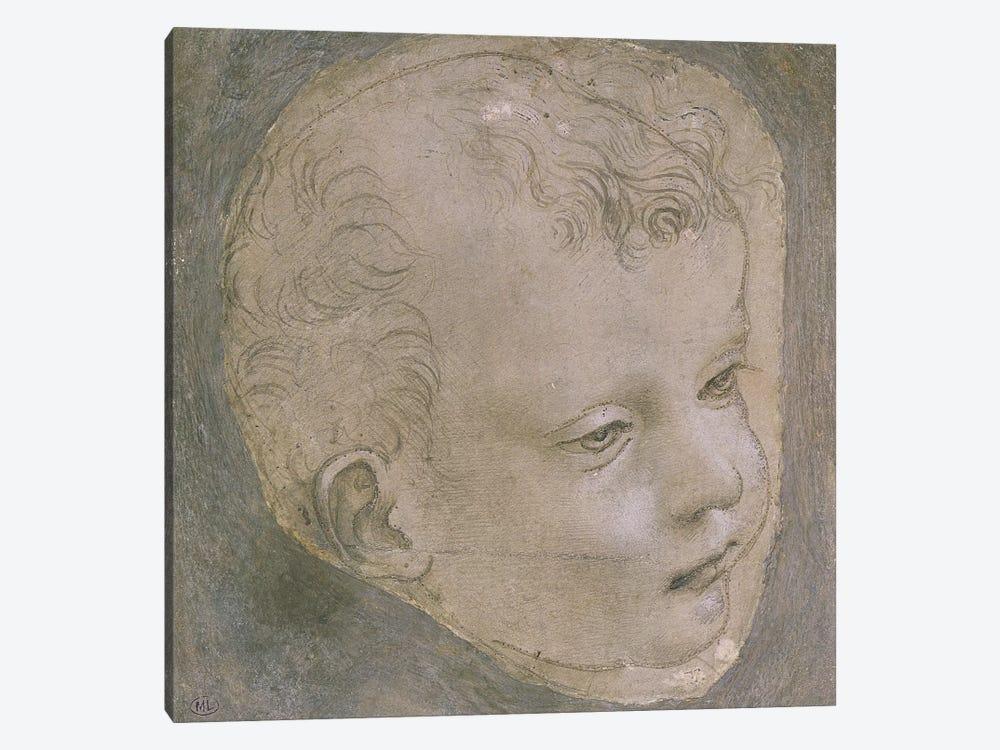 Head of a Child  by Leonardo da Vinci 1-piece Canvas Print